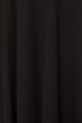 Flared stretch jersey skirt, BLACK, detail