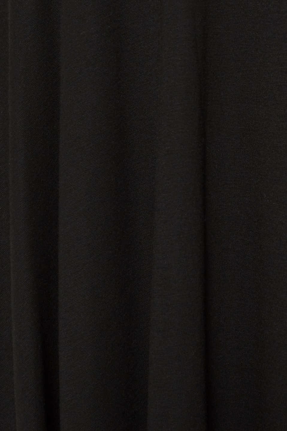 Flared stretch jersey skirt, BLACK, detail image number 4