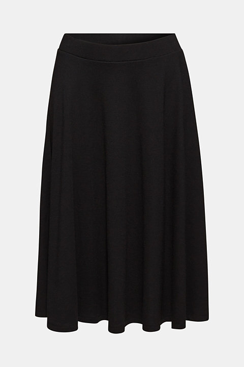 Flared stretch jersey skirt