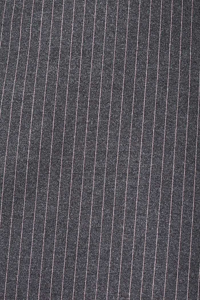Flannel skirt with pinstripes, GUNMETAL, detail image number 4