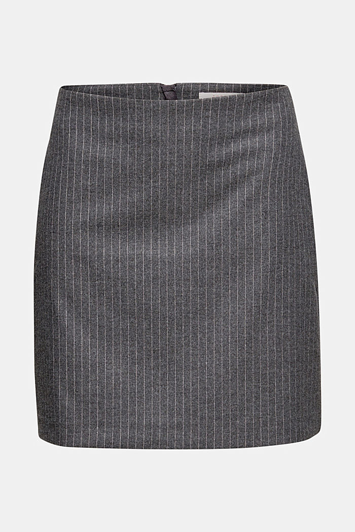 Flannel skirt with pinstripes