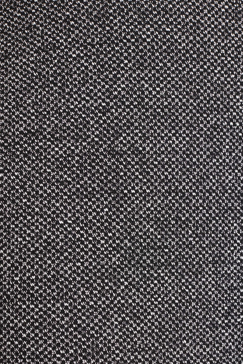 Stretch skirt with a salt-and-pepper texture, BLACK, detail image number 4