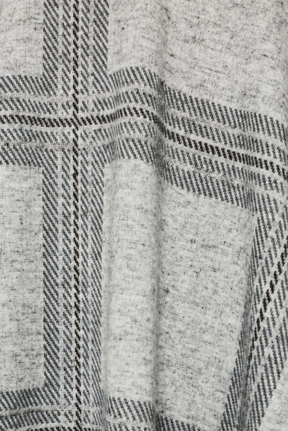 Fluffy jersey skirt with a check pattern, LIGHT GREY 5, detail image number 4