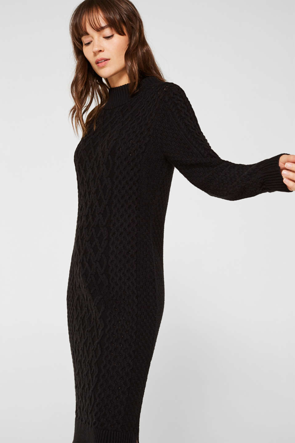 Esprit - Knitted dress with mix of textures