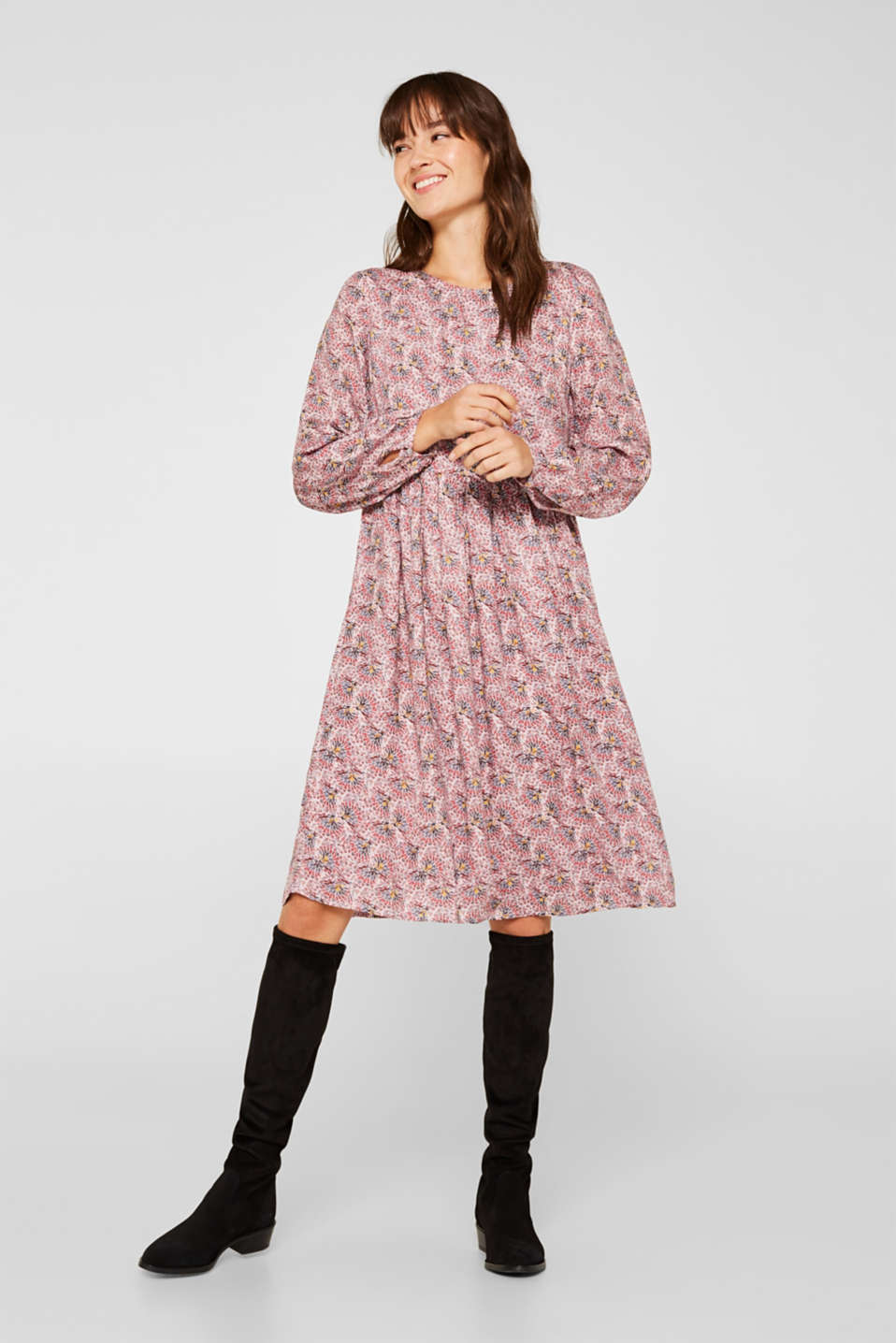 Esprit - Loose cut print dress