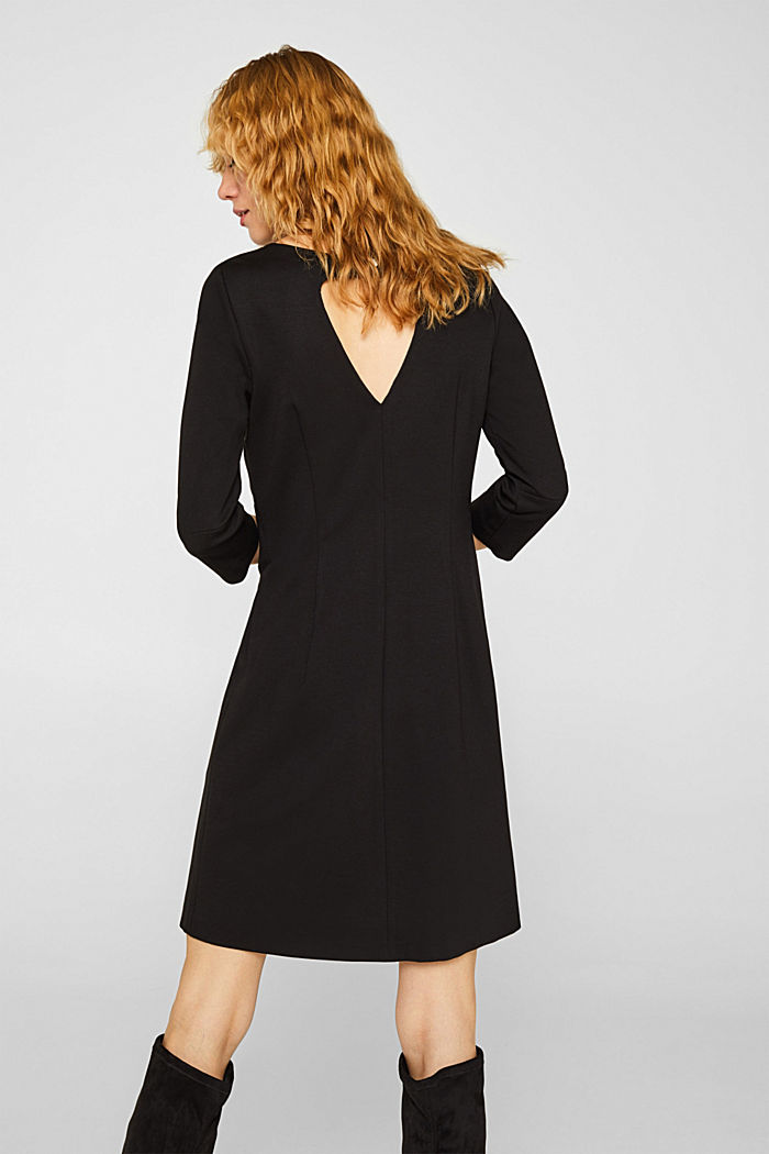 Stretch dress with a cut-out at the back, BLACK, detail image number 2