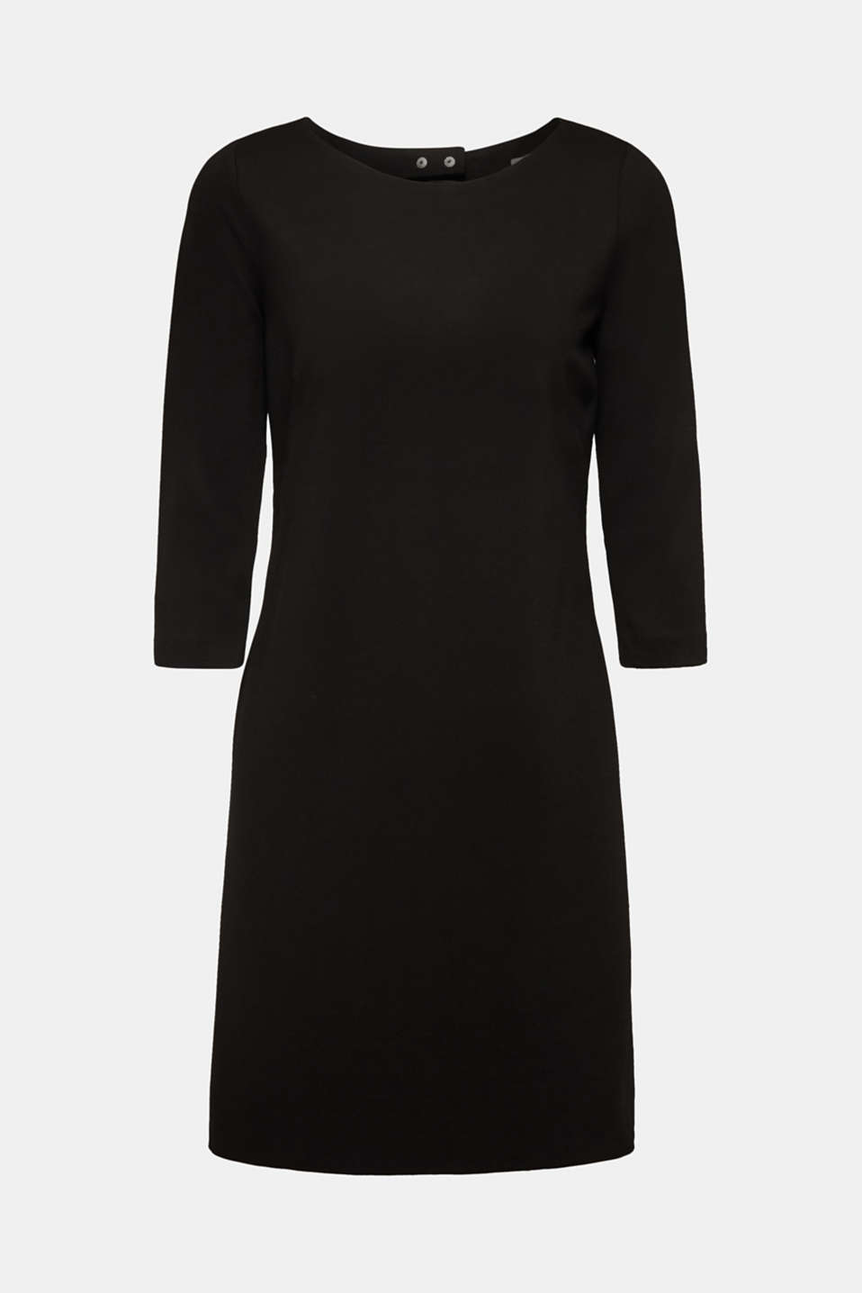 Stretch dress with a cut-out at the back, BLACK, detail image number 4