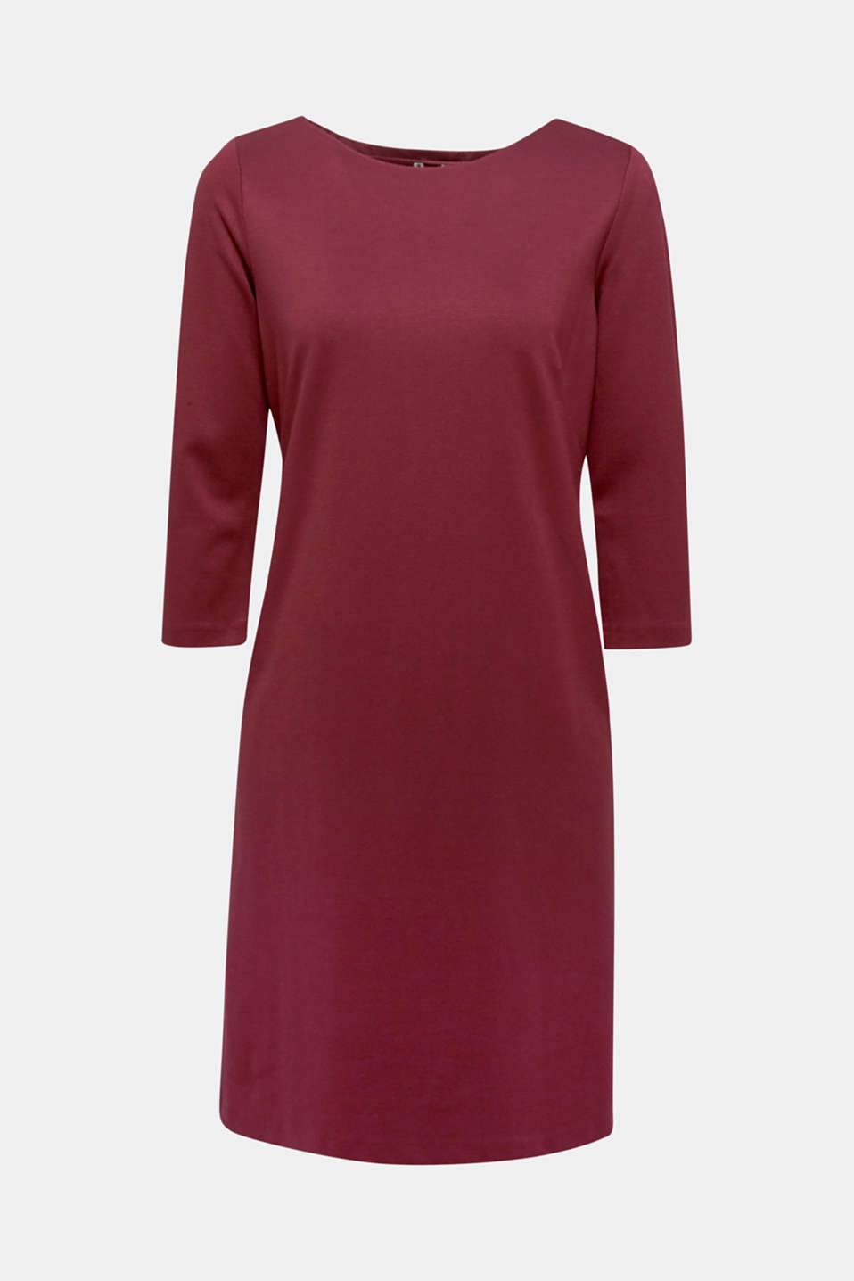 Stretch dress with a cut-out at the back, BORDEAUX RED, detail image number 6
