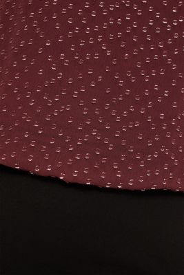 Dress made of chiffon and jersey, BORDEAUX RED, detail