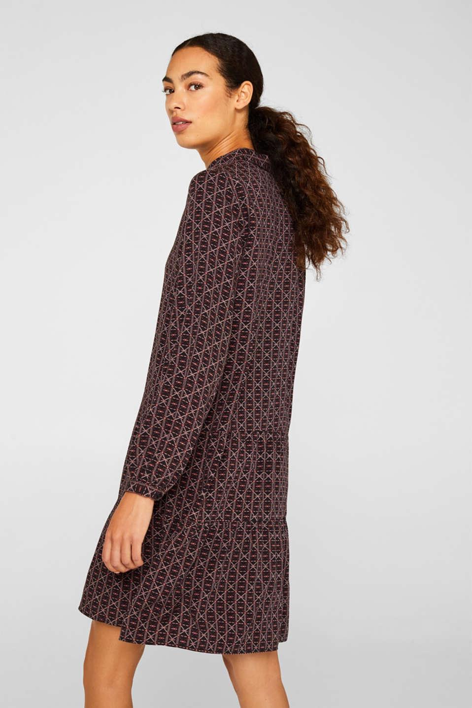 Shirt dress with a flounce hem, BLACK 4, detail image number 2