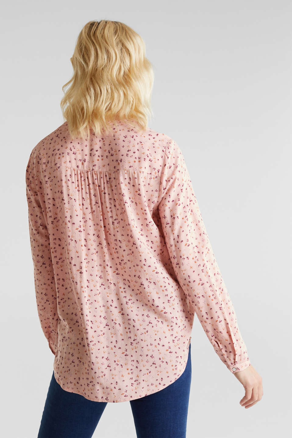 Print blouse with fashionable neckline, BLUSH, detail image number 3