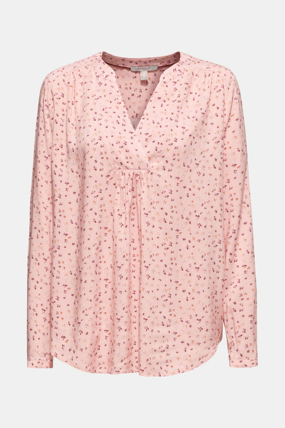 Print blouse with fashionable neckline, BLUSH, detail image number 5