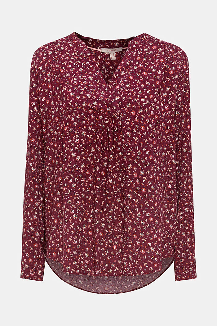 Tent blouse with a print