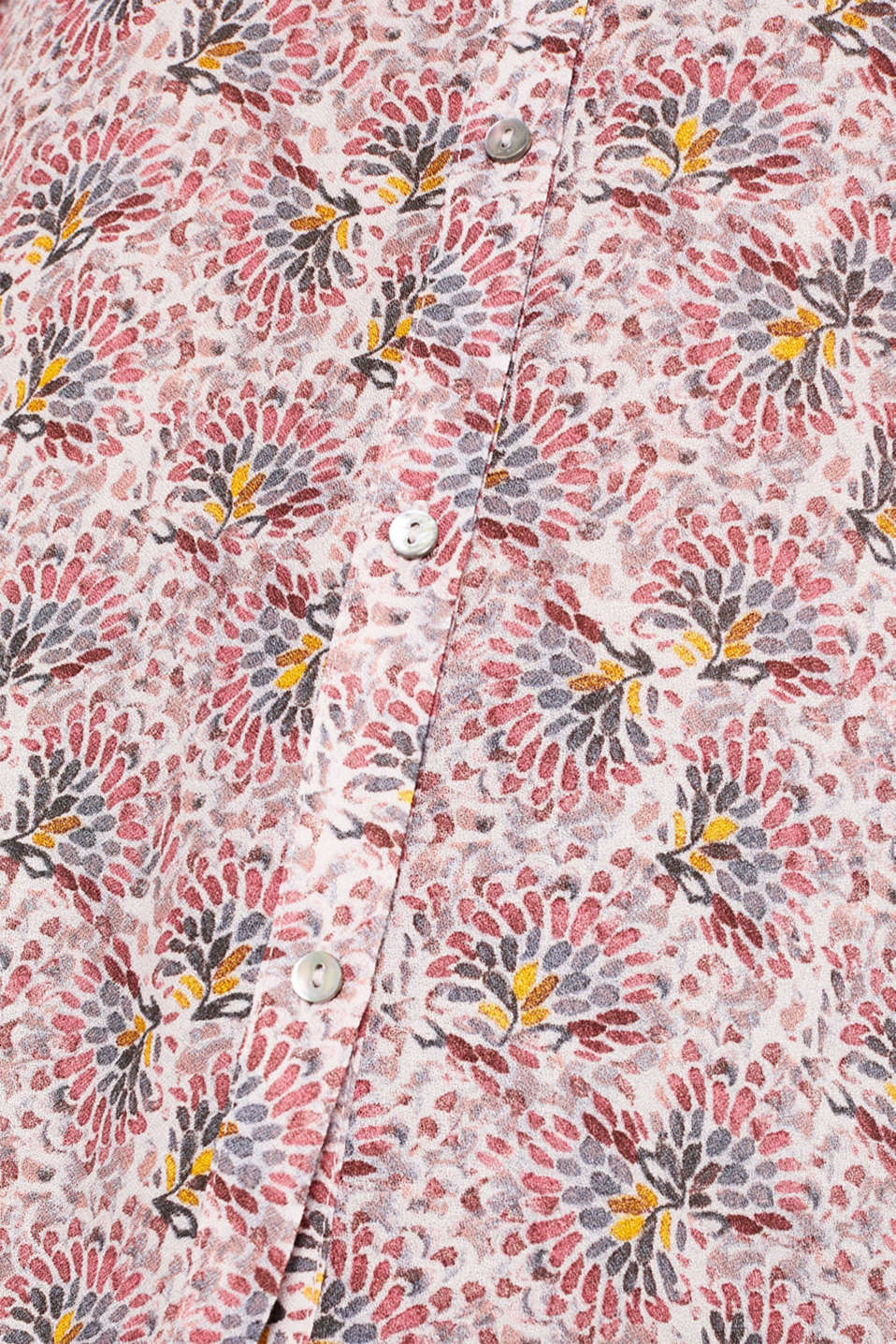 Crêpe blouse with all-over print, OLD PINK, detail image number 4