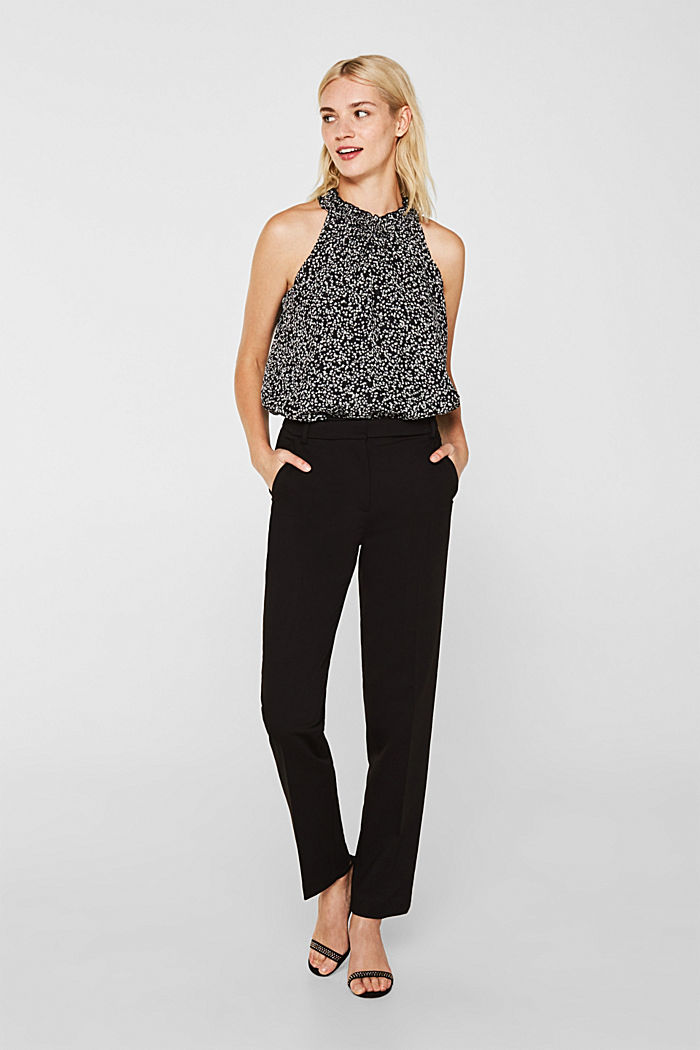 Glittery crinkle top in an A-line, BLACK, detail image number 5