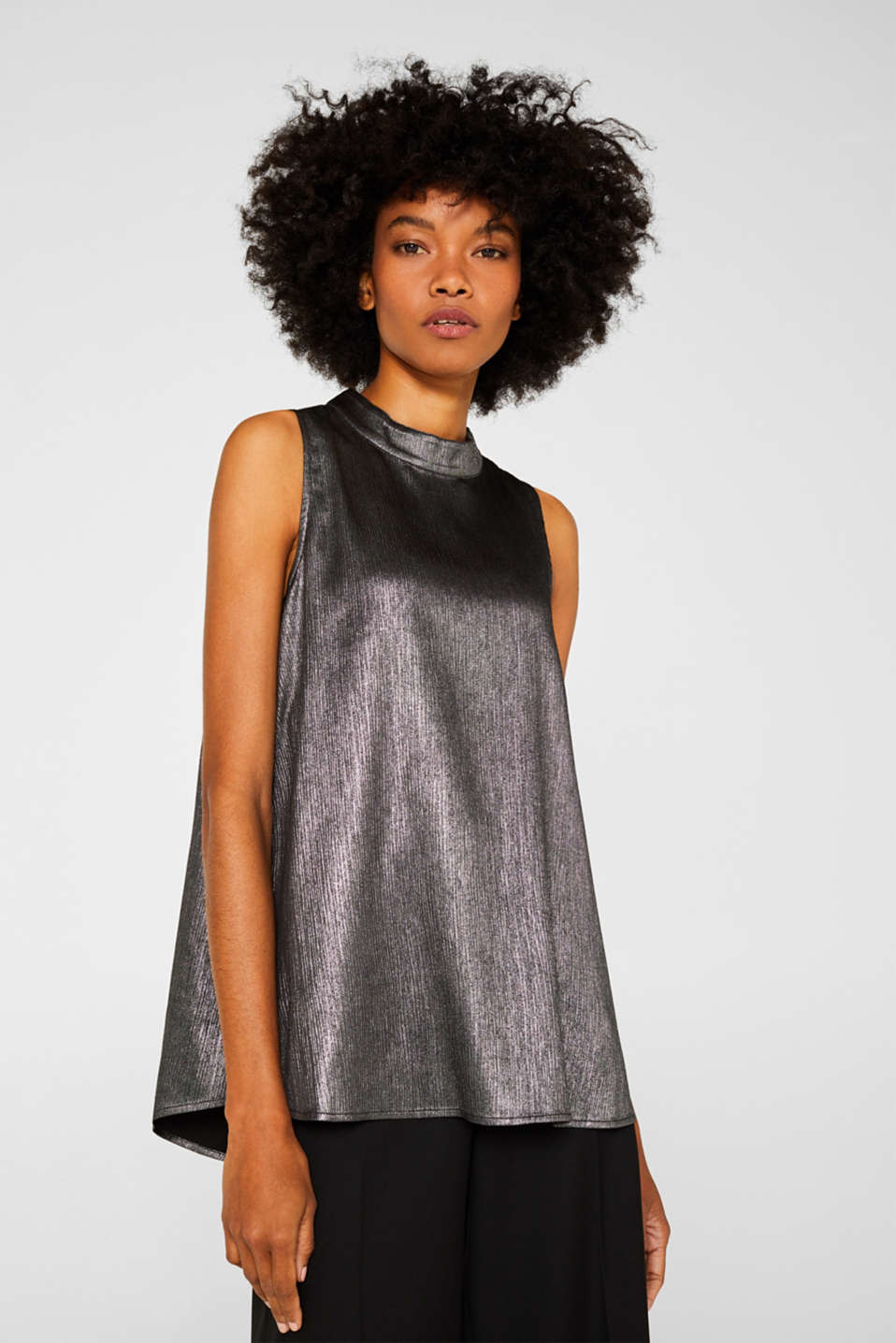 Esprit - Metallic-Top in A-Linie
