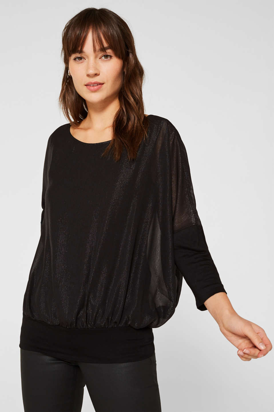 Esprit - Blouse in crinkle chiffon