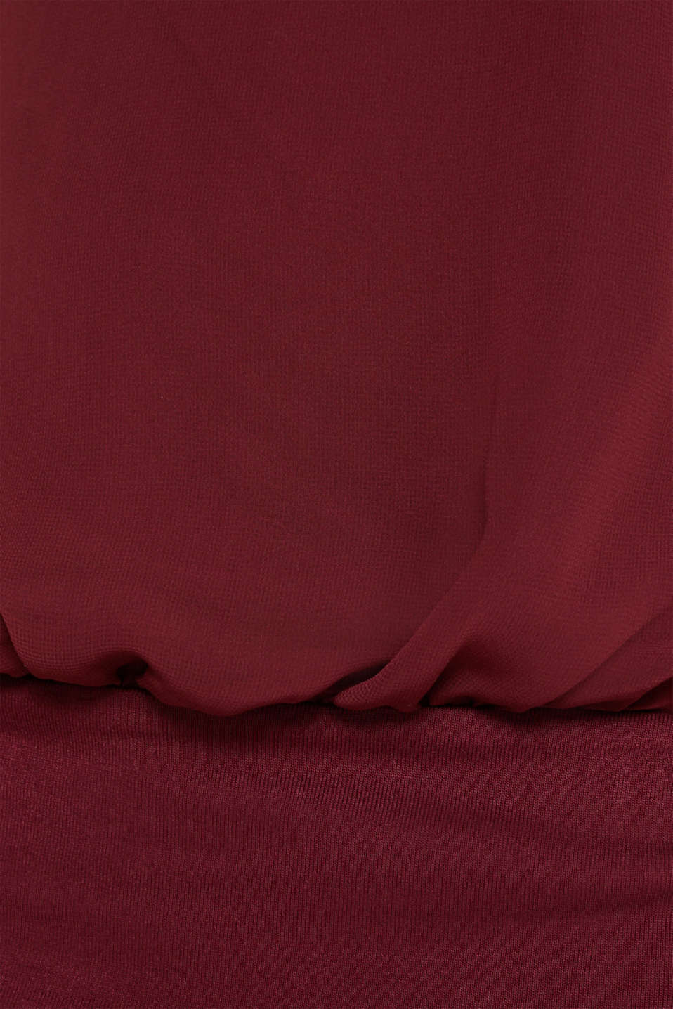 Batwing top made of chiffon/jersey, GARNET RED, detail image number 4