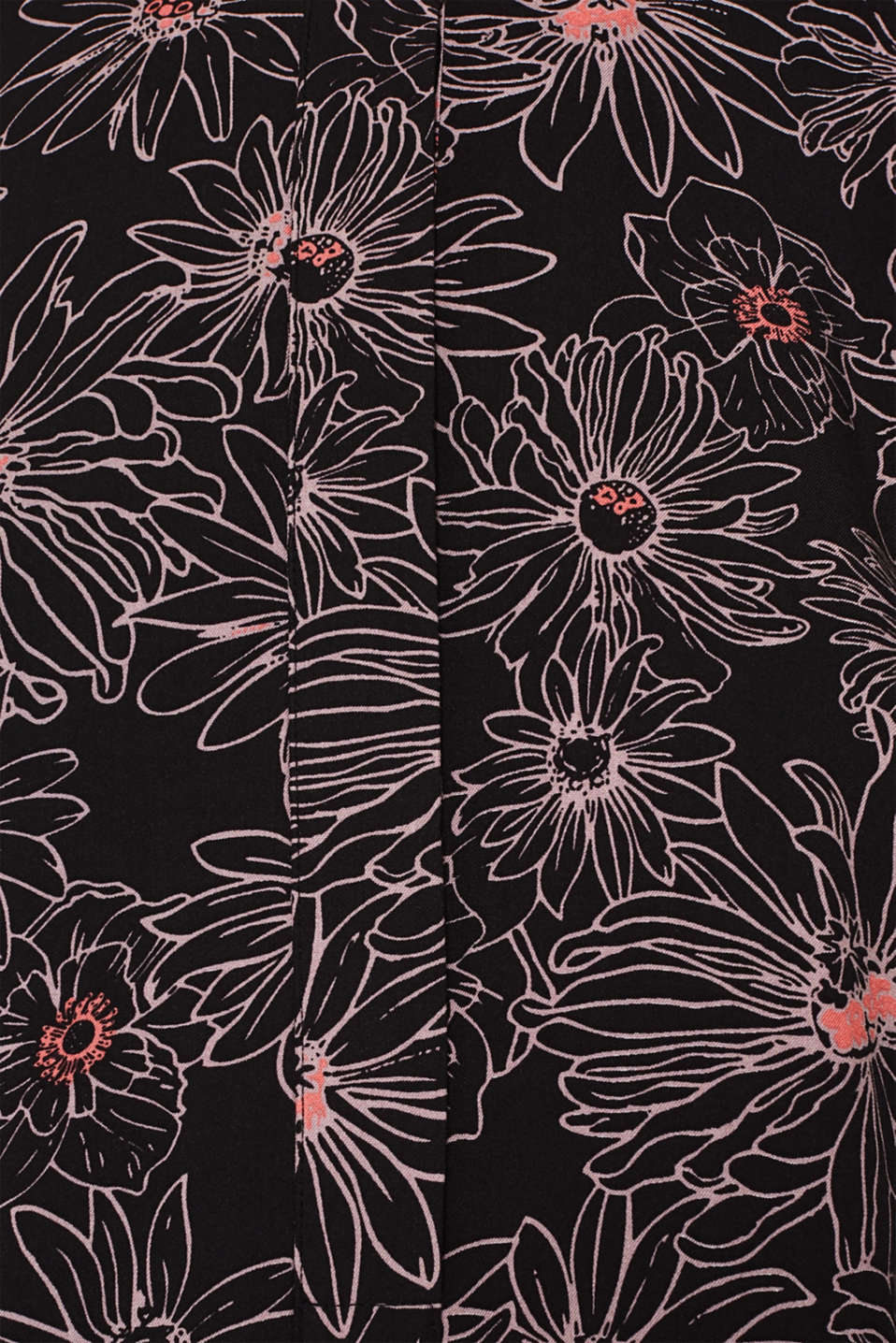 Slip-on blouse with a print and band collar, BLACK 3, detail image number 4