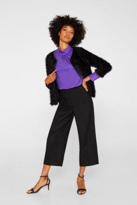 Bolero jacket made of lightweight faux fur, BLACK, detail