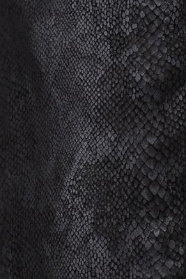 Faux leather jacket with a snake print