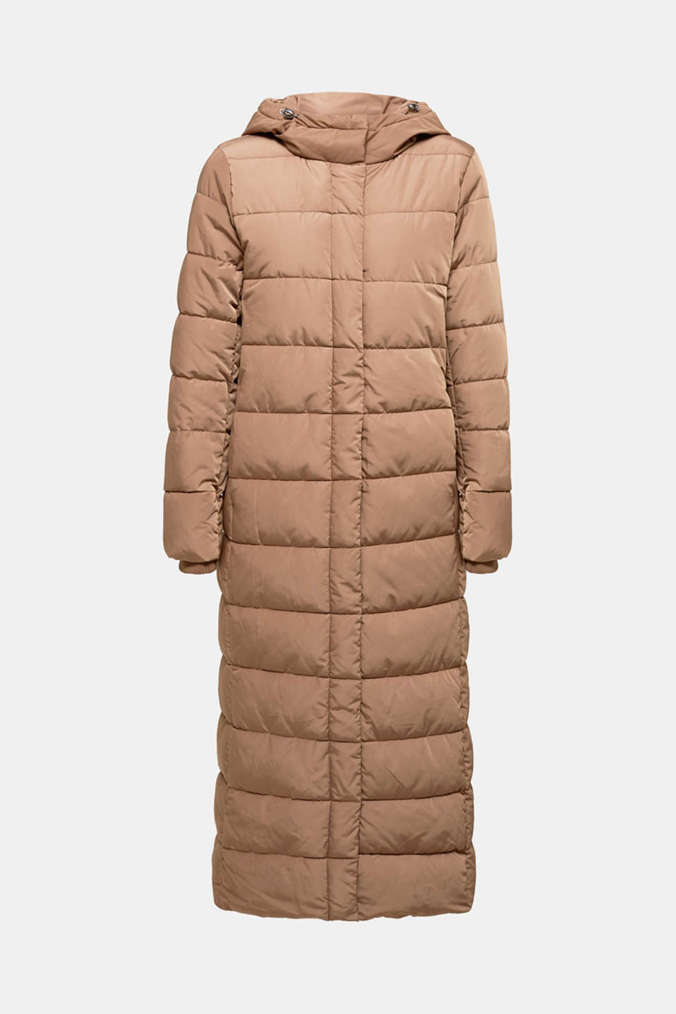 Quilted coat with hood, BROWN, detail image number 6