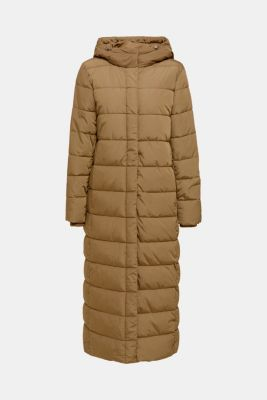 Quilted coat with hood, KHAKI GREEN, detail