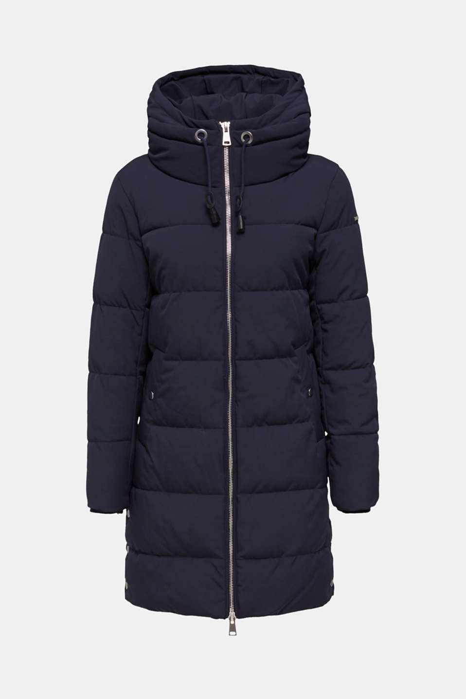 Quilted coat with hood, NAVY, detail image number 6