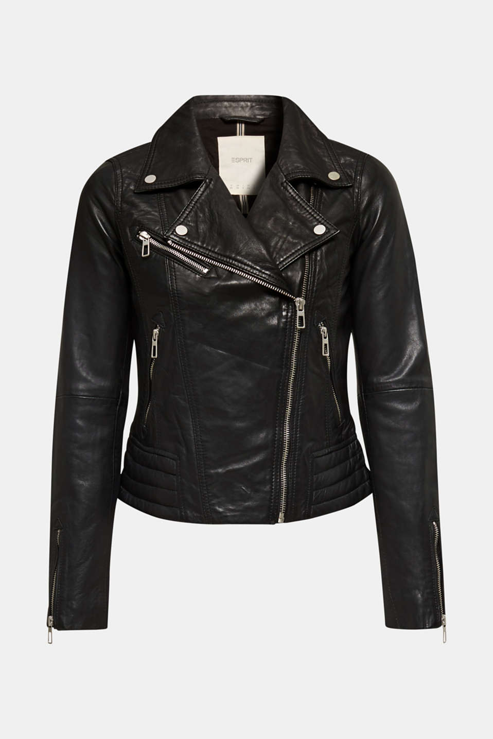 Jackets outdoor leather, BLACK, detail image number 8