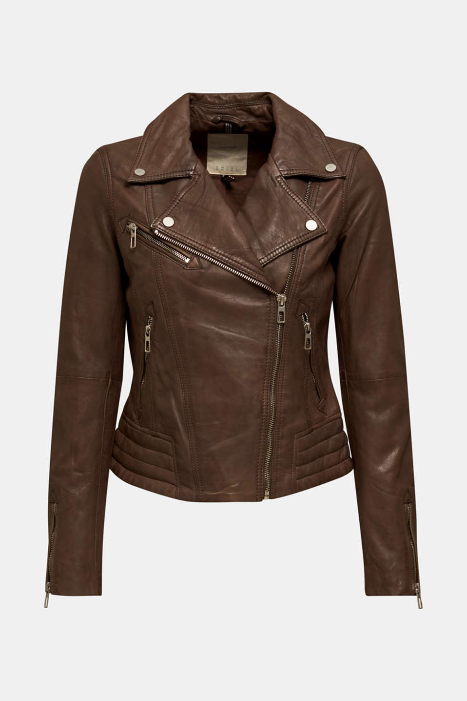 Jackets outdoor leather, TAUPE, detail image number 7