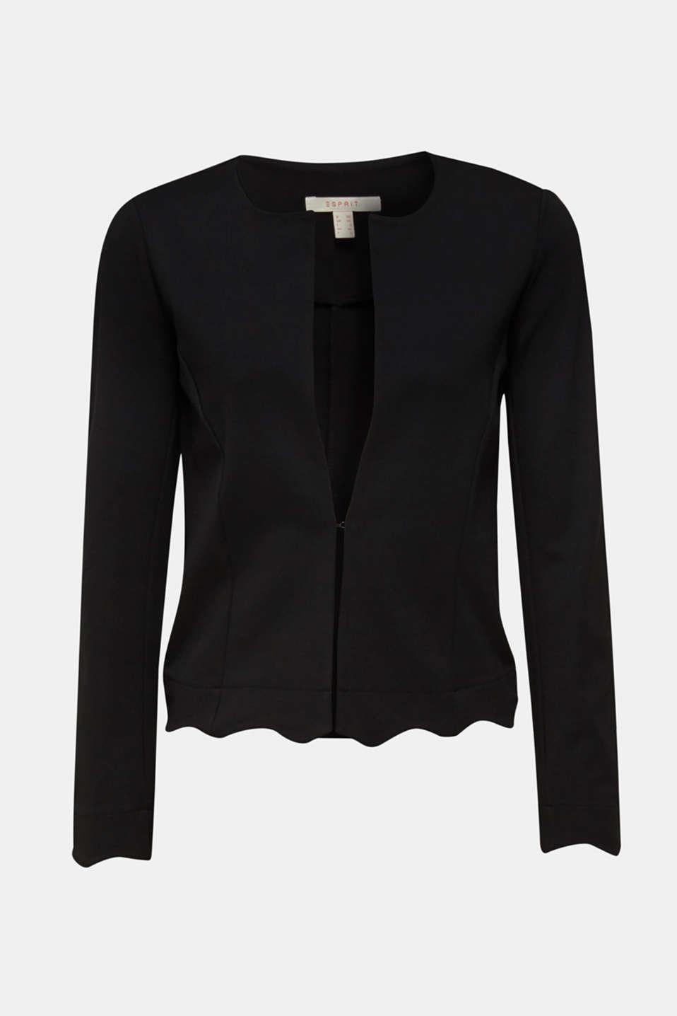 Blazer made of stretch jersey, BLACK, detail image number 6