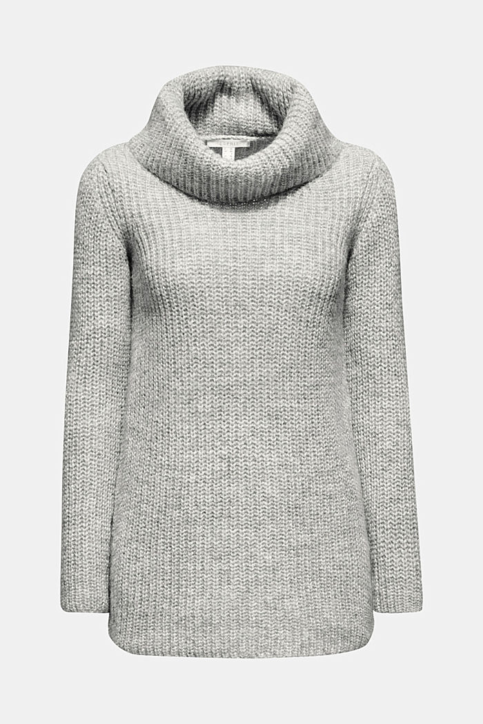 Wool blend: glittering polo neck jumper