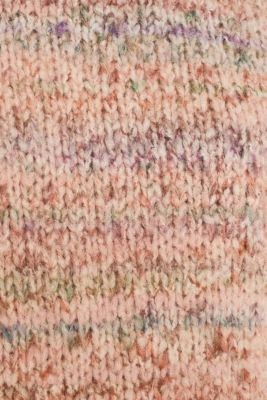 With wool: melange jumper, MAUVE 5, detail