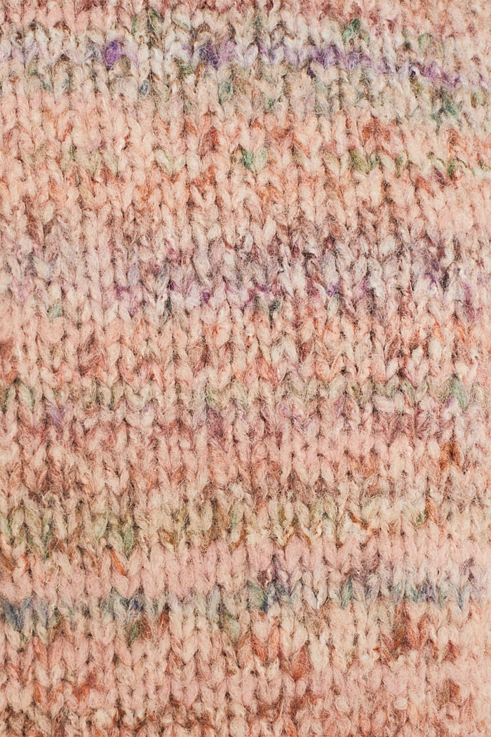 Mit Wolle: melierter Pullover, MAUVE, detail image number 4