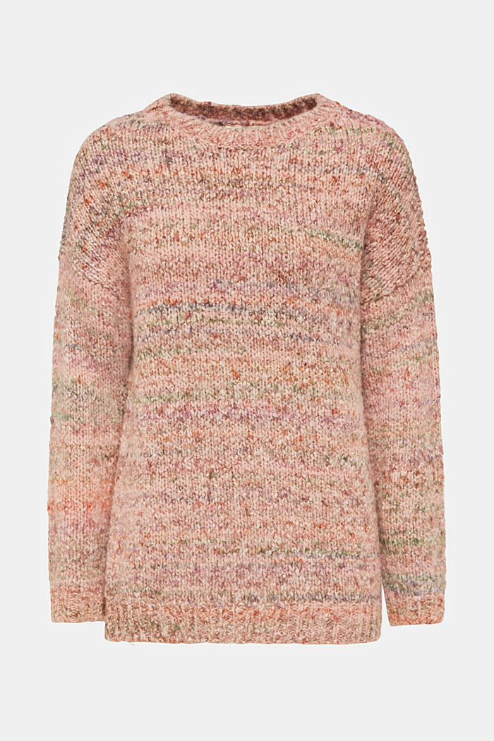 Mit Wolle: melierter Pullover, MAUVE, detail image number 6