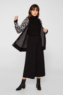 With wool/alpaca: jacquard cardigan, OFF WHITE 2, detail