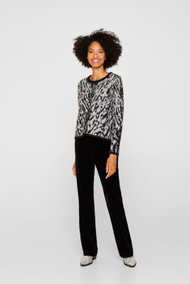 With wool/alpaca: Tiger jacquard jumper, OFF WHITE 2, detail