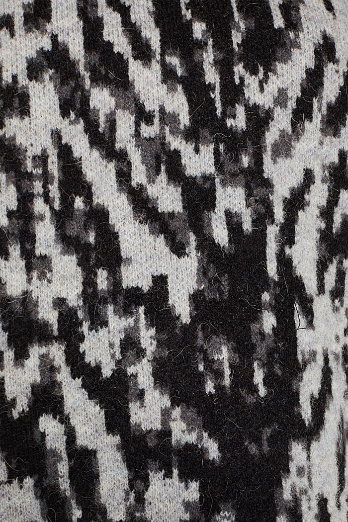 With wool/alpaca: Tiger jacquard jumper, OFF WHITE, detail image number 4