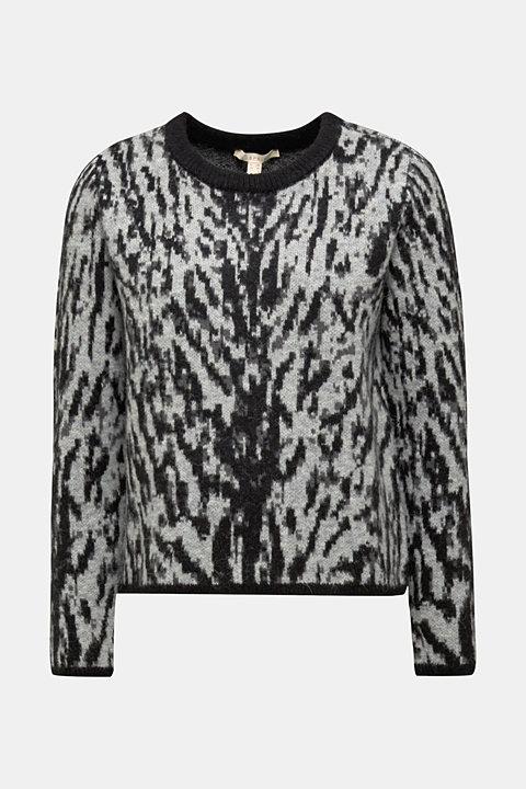 With wool/alpaca: Tiger jacquard jumper