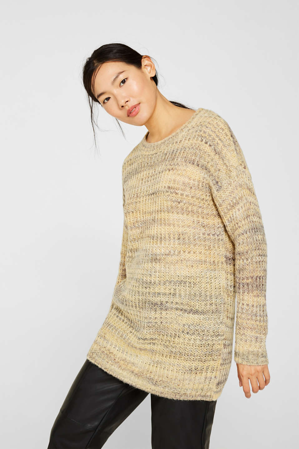 Esprit Mit WolleAlpaka: melierter Pullover im Online Shop