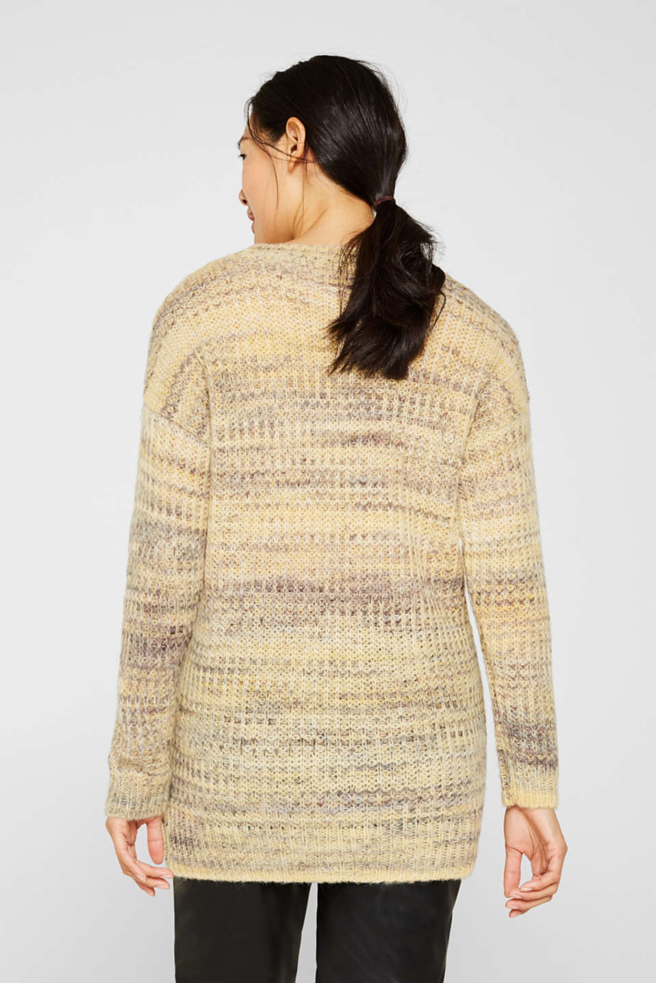 Melange jumper with wool/alpaca, DUSTY YELLOW 2, detail image number 3