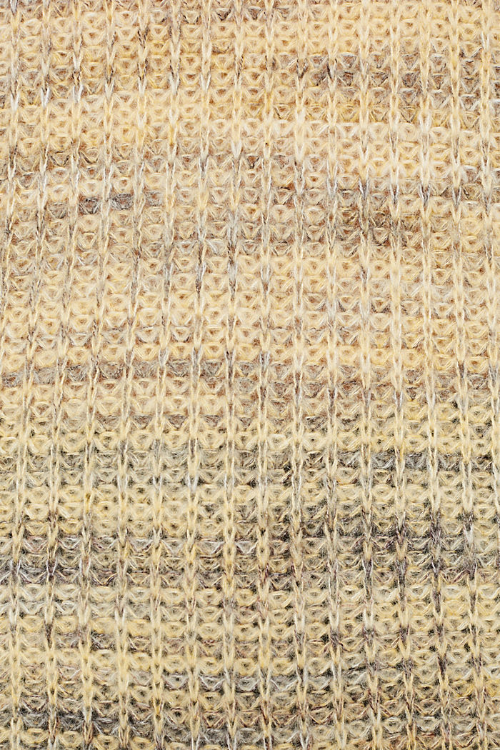 Melange jumper with wool/alpaca, DUSTY YELLOW, detail image number 4