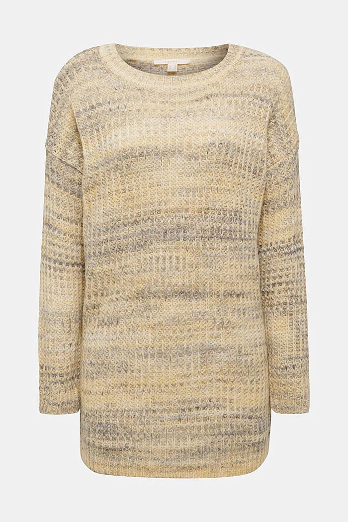 Melange jumper with wool/alpaca, DUSTY YELLOW, detail image number 5