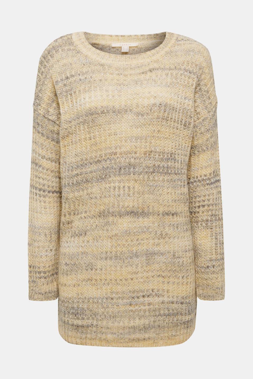 Melange jumper with wool/alpaca, DUSTY YELLOW 2, detail image number 5