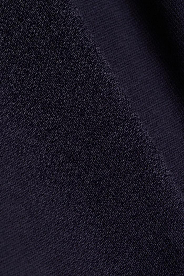 Turtleneck-Pullover mit Ripp-Details, NAVY, detail image number 4
