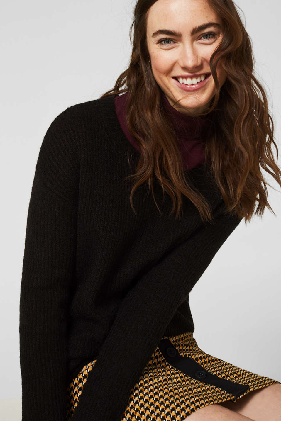 Esprit Mit WolleAlpaka: Pullover im Basic Stil im Online