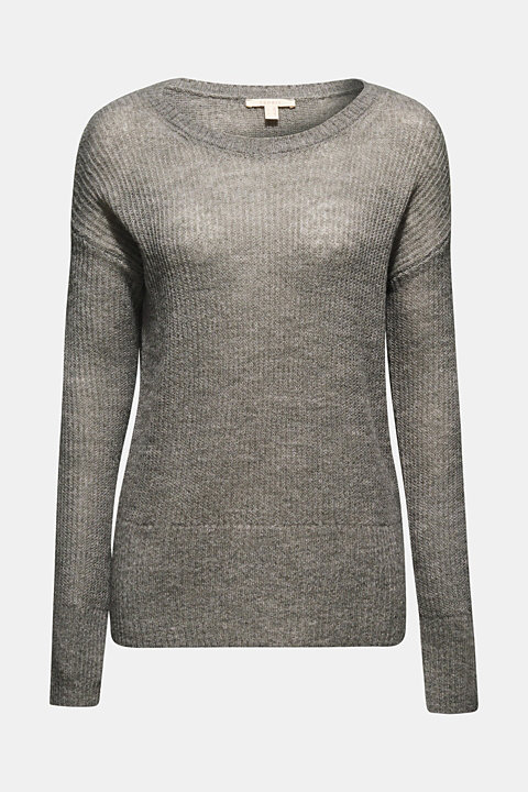 With wool/alpaca: Basic style jumper