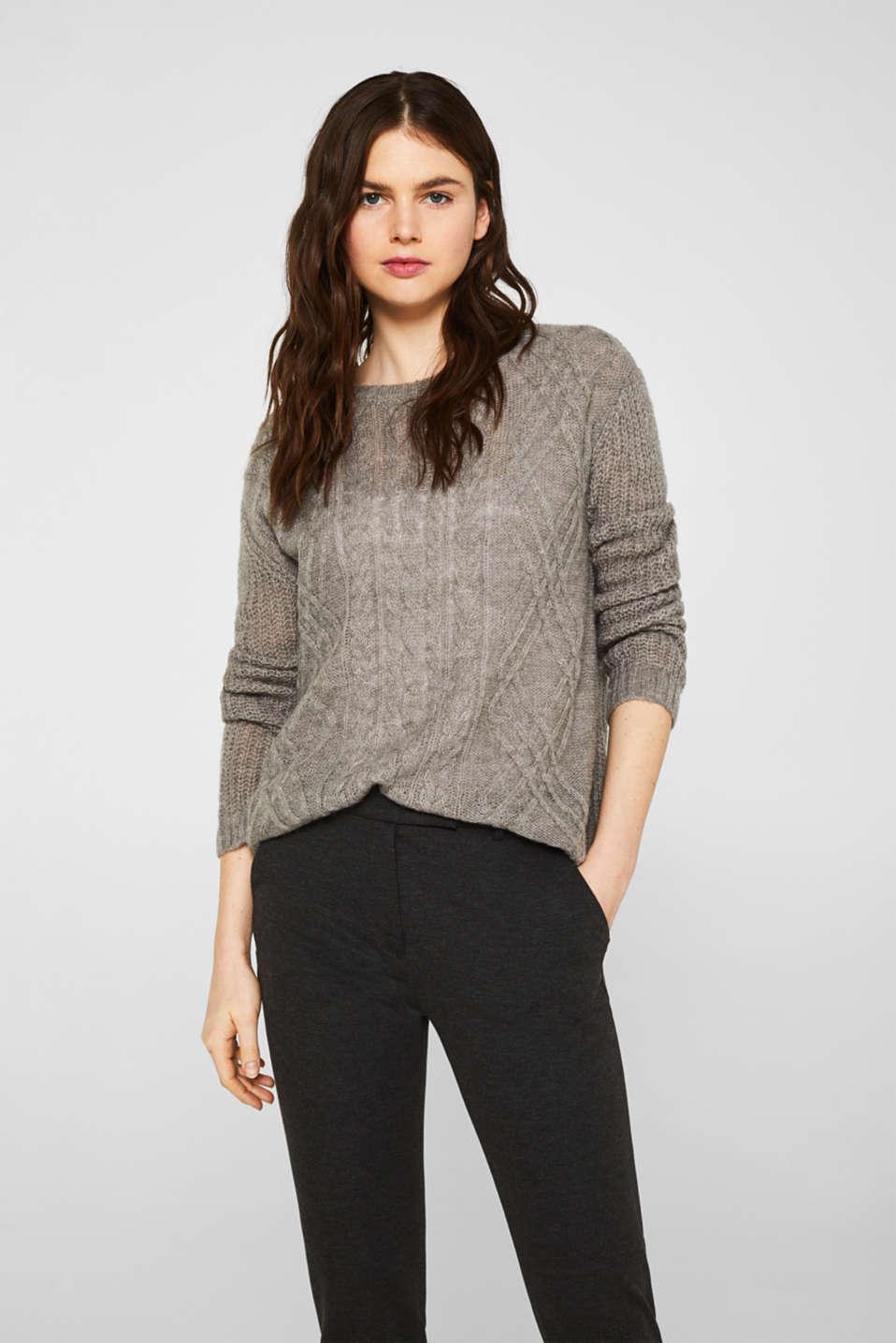 Esprit Mit WolleAlpaka: Struktur Pullover im Online Shop