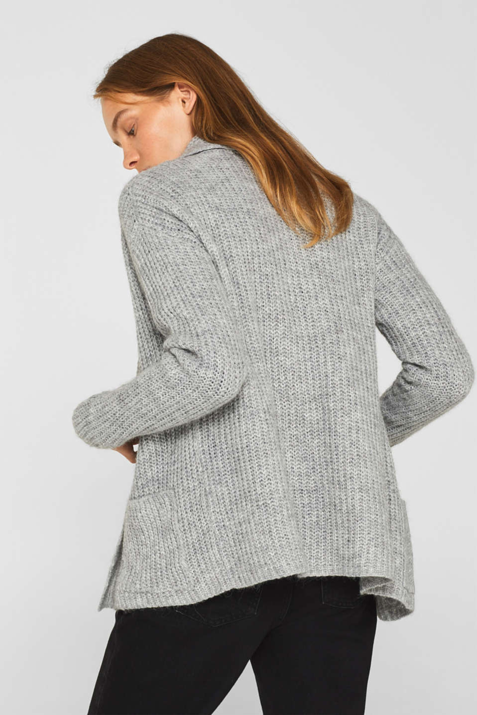 Sweaters cardigan, LIGHT GREY 2, detail image number 3