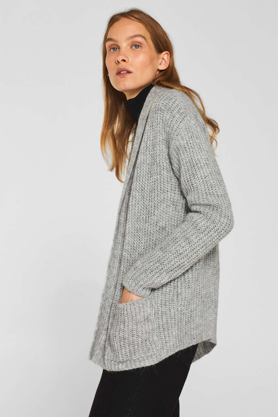 Sweaters cardigan, LIGHT GREY 2, detail image number 5